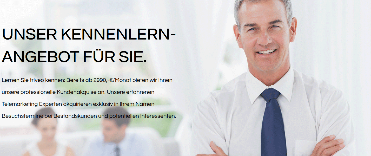 triveo Telemarketing - Kennenlern-Angebot