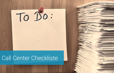 Call Center beauftragen: Checkliste